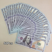 Wholesale Money Banking - USA Practicing Props Paper Money Collection Latest $100 Bank Training Learning Banknotes Teaching Money Childre Gift 50Pcs