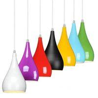 ingrosso sospesi bar a cristallo lampadario-Lampadario moderno di alluminio semplice del lampadario, lampade di caduta di illuminazione del ristorante Lampadario del ristorante, 1 testa, 3 lampadari creativi della barra della testa