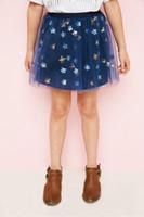 Wholesale Star Baby Dress - Teenager Lace tutu Skirts Junior Sequins Stars Princess Dress Big Babies Summer Skirt 2017 childrens clothing