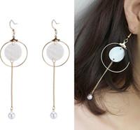 Wholesale Korean Handmade Earrings - Natural stone Fashion Trends New Unique Earrings Fashion Atmosphere Shell Earrings Korean Star Earrings Handmade Shell Pearl