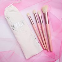 Wholesale Professional Makeup Brush Collection - Newest kylie jenner birthday collection makeup brushes sets 4 pieces Professional kylie cosmetics eye brushes make up DHL Free Shipping