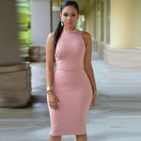 Wholesale Sexy Plus Clubwear - Women Sexy Club Dress Sleeveless O-Neck Spring Summer Pencil Dress Slim Hip Plus Size 4XL Bodycon Dress For Party Clubwear