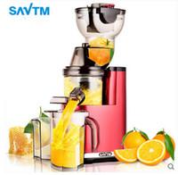 Wholesale Juicing Machines - SAVTM Raw Juice machine Large Diameter Juicer Multifunctional Cooker Low Speed Juice Machine DHL Free Shipping