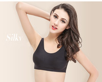 Wholesale Cool Tank Tops For Women - Free Size Ice Silk Cool Camisole Summer Women Tanks Halter Crop Top Bikini Top for Female