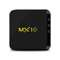 Wholesale Wifi Hdmi Android - 1PIECE!! MX10 4GB 32GB Android 7.1 TV Box RK3328 Rockchip 4K Ultra HD WiFi Streaming Media Player Better T95Z S905W X96 S912 H96
