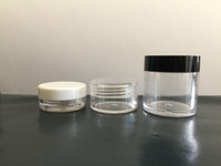 Wholesale cosmetic jars gram - 3ML 5ML 10ML Clear Empty Jar Cosmetic Plastic Round Bottle Pot For Make Up Eye Shadow Nails Powder Container 100Pcs Lot Gram Size