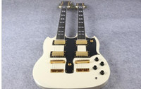 Wholesale Ems Electric Guitars - HOT SALE Double Neck Electric Guitar 1275 Model cream Finish For Sale EMS free shipping