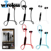 Wholesale fone ouvido iphone online - 2017 s6 Bluetooth Sport Earphone Wireless Running Headset With Mic MP3 fone de ouvido Earbud Stereo BT For iphone xiaomi samsung