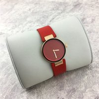 Wholesale Dresses Trade - Top Brand Fashion Lady Watch Sexy Red Luxury Genuine Leather Women Dress watch Leisure Quartz Wristwatch Foreign trade sale free shipping