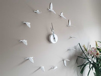 Wholesale Original D Clock Swallow Clock modern design white wall clock perfect gifts high quality home decoration birds swallow