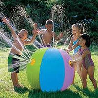 Wholesale Sprinkler Toys - Summer Inflatable Water spray Ball balloon Outdoors Sprinkler water Play in the water Beach ball Children toy ball