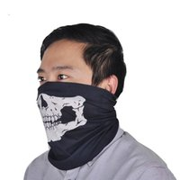 Wholesale Tissue Low - halloween scary mask festival skull masks seamless multi magic scarf riding around halloween mask warm bo skull tissue magic props