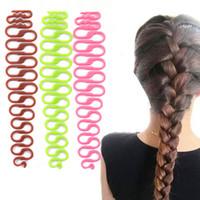 Wholesale Twisting Disk - 2pcs  lotFashion Women Twist Styling Hair Braider Creative Magic Hair Braid Tool Holder Clip New Wave Hair Disk Braider