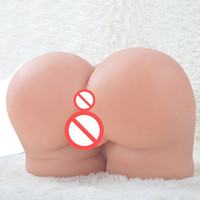 Wholesale Sex Torso Men - Silicone pussy Ass Male Masturbator silicone big ass toy japanese vagina anal Sex Doll real For Men 3D realistic solid sex dolls torso