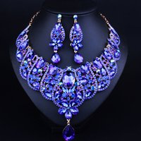2017 Hot New Design Western Africa Vendita Calda Dei Monili 2 Set Collana Anello Orecchino Per La Donna Weddng Partito Dare Regalo Bel Design Q-LL03