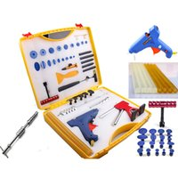 Wholesale Pdr Paintless Dent Repair Auto - Newest design 46 pieces set Auto paintless dent repair Tool Set - pdr tools for car