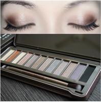 Wholesale Magnetic Eyeshadow - Eyeshadow Palette 12 Colors Wholesale Makeup Magnetic Eyeshadow Palette with Brush Naked Matte Cosmetic Palette Cardboard