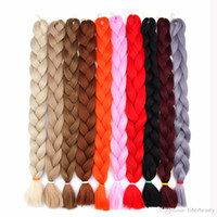 pelo afro pulgadas al por mayor-Xpression Crochet Braids Pelo sintético Yaki Braids Afro Braiding Hair Bulks 41 pulgadas Long Kanekalon Braiding Hair Extensions