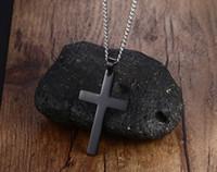 placas de fé venda por atacado-Beichong colar de pingente de cruz pulseira de ouro preto arma de aço inoxidável moda religiosa jóias para mulheres homens fé colar