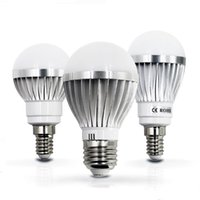 Wholesale Cree Led Globe 15w - 2017 LED lamp E27 E14 IC 3W 5W 7W 9W 12W 15W 85V-265V LED Lights Led Bulb light lighting high brighness Silver metal