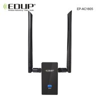 Wholesale Dbi Network - Wholesale- 5ghz wireless usb wifi adapter 1200mbps high gain thtough-wall double 6 dbi wifi antennas dual band usb network card 802.11ac