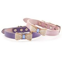 Wholesale Pearl Dog Collar - armipet Pearl Bow Dog Collar Pets Puppy Princess Collars For Dog 6041023 Pet Products S M