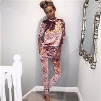 Wholesale Ladies Velvet Suits - 2017 the spring and autumn period and the lady suit velvet sleeves warm hot style cultivate one's morality leisure female suit