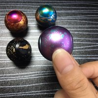 Wholesale Cool Toys For Big Kids - Cool Universe Planet Finger Spinner Fidget Toys Metal Aluminium Rainbow Decompression Toys for Adults Kids Killing Time Soccer Ball Design