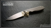 Wholesale cpm s35vn tactical knife resale online - Carson Boiling rd Anniversary Flipper Folding knife Titanium handle CPM S35VN blade ball bearing washers Survival Tactical EDC tools