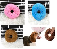 3 colores Donut Play Toys Dog Cat Squeaker Quack Sound Toy Venta caliente Puppy Pet Chew Toys