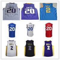 Wholesale Basketball Pick - NWT 2017 Draft Picks Philadelphia 20 Markelle Fultz Jersey Stitched Purple Yellow White Philadelphia 2 Lonzo Ball College Basketball Jerseys