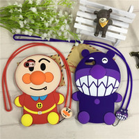 Wholesale Lovely Bread Cartoon - 3D Cartoon Bread Bacteria Boy cell phone Cases for iPhone 7 6 6S Plus hot sale Silicone Cute Rubber Soft Back Cover Case Lovely Skin