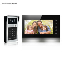 Wholesale Wired Video Intercom Doorbell Systems - XSL Video Doorphone System Visual Intercom Doorbell High Definition Monitor ID Card And Password To Unlock Rainproof Camera