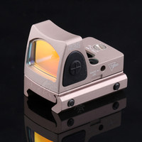 Wholesale mirror hunting - 2018 New Adjustable LED RMR with Trijicon Style Mini-mirror Holographic Red Dot Sight good for hunting