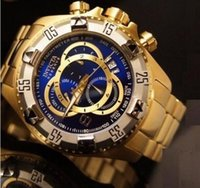 Wholesale Brazilian Gold - INVICTA 2017NEW new large dial luxury men's quartz watch sports watch new 5-color hot Brazilian calendar watches, large inventory 02