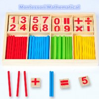 Wholesale Pandora Wood - gift box pandora charm Hot Selling Baby Education Toys Wooden Counting Sticks Toys Montessori Mathematical Baby Gift Wooden Box