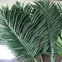 Wholesale Fake Plants Trees - 10pcs Artificial Leaves Simulation Plants Fake Palm Tree Leaf