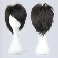 Wholesale Men Hair Wig Styles - MCOSER Free Shipping 2014 Famous Halloween Style Handsome Man Black Arcana Famiglia Jolly Cosplay Wig Cosplay women's peruca hair queen wigs