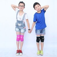 Vente en gros - Kids Thickening Sports Knee Pads Brace Support Protect Knee Protector Baby Crawling Danse Volleyball Enfants joelheira