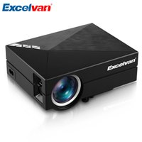 Wholesale dlan hdmi - Wholesale- Excelvan GM60A Portable Home Projector 800*480 1500Lumens Support DLAN MIRACAST With USB SD VGA HDMI AV Input LED LCD Proyector