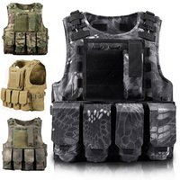 Tactical Vest Mens Tactical Hunting Gilet Campo Combattimento Assault Plate Carrier CS Outdoor Jungle Equipment