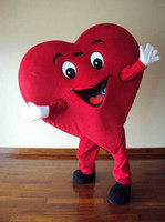 Wholesale Mascots For Cheap - Cheap Red Heart Adult Mascot Costume For Valentine's day Adult Size Fancy Dress Cartoon Outfits Suit