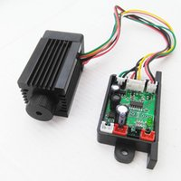 Wholesale fan module - Focusable 532nm 200mW Green Laser Module Diode Dot DC12V with TTL Cooling Fan