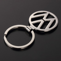 Wholesale Vw Logo Keychain - Car Styling New Metal Car logo Keychain Hollow out Emblem Keyring For Mercedes Volkswagen VW  H  OPEL Audi key chain ring Key Holder