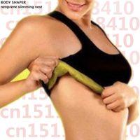 Wholesale Top Breast Shapers - Wholesale- Body shapers waist trainer vest tops weight loss underwear control corset chest breast binder Neoprene fit sweat vest wrap