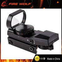 Barato Pontos Vermelhos 11mm-FIRE WOLF Caça Tactical 20mm ou 11mm Holographic 1x22x33 Reflex Red Green Dot Sight Escopo para Caça