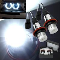 Wholesale Angle Eyes Bmw - 7000k LED Angle Eyes Halo Xenon Marker Ring Light Bulb Canbus For BMW E39 E53 E60 E61 E63 E64 E65 E66 X5