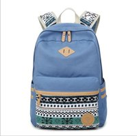 Wholesale Cute Cheap Canvas Bag - Cheap women canvas backpack fashion cute travel bags printing backpacks 2pcs set new style laptop backpack for teenage girls