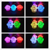 Wholesale Led Lights For Plastic Cups - christmas night lights led for child light plastic body colorful led night lights with button battery for chrildren party room