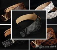 Wholesale Luxury Belts Brands - New Famous L Brand Designer V Buckle Belt Men Casual Mens GG Belts Luxury High Quality Belts Genuine Leather Men FF Belts